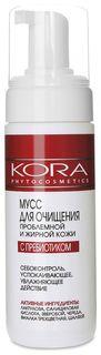 Мусс для очищения проблемной и жирной кожи с пребиотиками  Кора