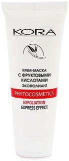 Крем-маска с фруктовыми кислотами эксфолиант  Кора