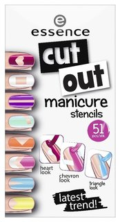 "Наклейки для ногтей ""Cut out manicure stencils""  Essence"
