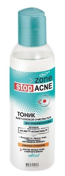 Тоник для лица BelitaТоник для лица<br>Тоник очищает и сужает поры, оказывает мгновенный матирующий и бархатистый эффект. Способствует улучшению цвета кожи, сужает поры. Антибактериальные компоненты подавляют рост бактерий, оказывают антирецидивное действие.<br>Возраст: Подростковый; Линейка: Zone Stop Acne; Объем мл: 150;