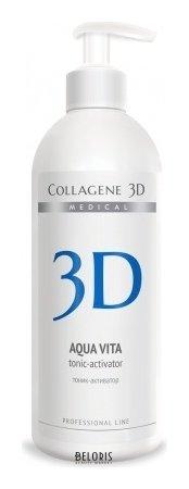 Тоник для лица Medical Collagene 3D Тоник-активатор Aqua Vita для активации биопластин и аппликаторов