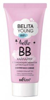 BВ-хайлайтер для молодой кожи с тонирующим эффектом Безупречное сияние  Белита - Витекс