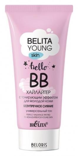 BВ-хайлайтер для молодой кожи с тонирующим эффектом Безупречное сияние Белита - Витекс young skin