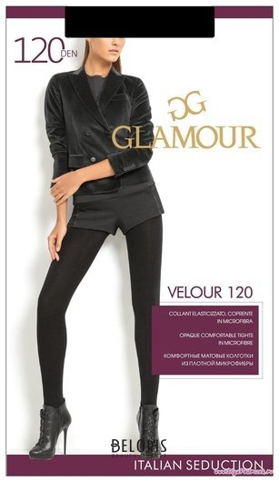 Колготки женские Velour 120 Glamour