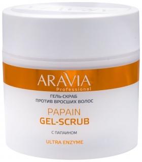 Гель-скраб против вросших волос Papain Gel-scrub  Aravia Professional