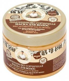 """Маска для волос лимонниково-горчичная """"Био-активатор роста волос""""  Рецепты бабушки Агафьи"""