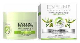 "Еveline крем ""Гиалуроновая кислота + зелёная олива""  Eveline"