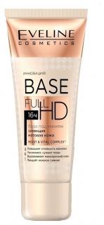 Eveline база под макияж сияющая матовая кожа 4в1 base full hd (бел.)  Eveline