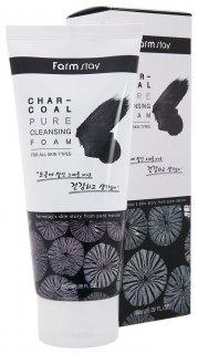 Очищающая пенка с древесным углем Charcoal Pure Cleansing Foam  FarmStay