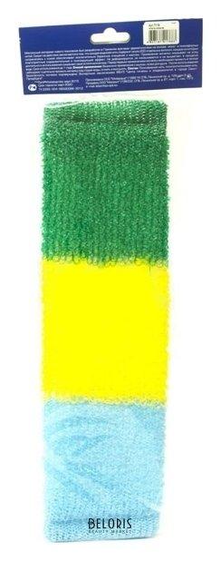 Купить Мочалка для тела VIVAL, Мочалка массажная, длинная, трехцветная, Россия