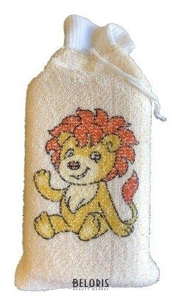 Купить Мочалка для тела VIVAL, Мочалка детская брикет с манжетой из хлопка с рисунком, Россия