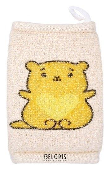 Купить Мочалка для тела VIVAL, Мочалка детская брикет из хлопка с рисунком, Россия