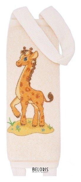 Купить Мочалка для тела VIVAL, Мочалка детская длинная из хлопка с рисунком, Россия