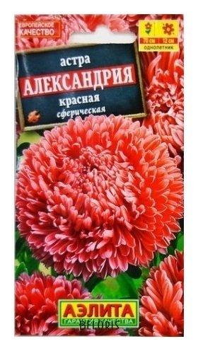 Семена Астра красная Александрия Аэлита