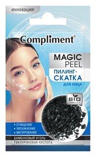 Пилинг-скатка для лица Бамбуковый уголь и гиалуроновая кислота  Compliment