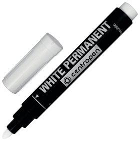 Маркер для промышленной маркировки Centropen, белый, 2,5 мм, круглый наконечник   Centropen