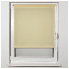 Штора рулонная BRABIX 70х175 см, текстура - лён, защита 55-85%, 200 г/м2, кремовый S-21  Brabix