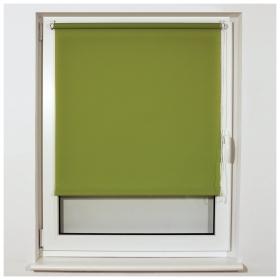 Штора рулонная BRABIX 80х175 см, текстура - лён, защита 55-85%, 200 г/м2, зелёный S-32  Brabix