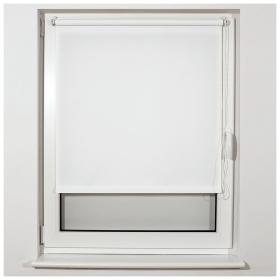 Штора рулонная BRABIX 80х175 см, текстура - лён, защита 55-85%, 200 г/м2, белый S-5  Brabix