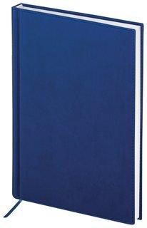 """Ежедневник полудатированный А5 (138х213 мм) Brauberg """"New York"""", под гладкую кожу, 192 л., синий  Brauberg"""