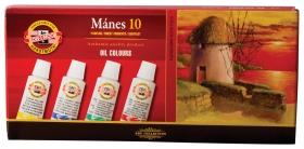 """Краски масляные художественные Koh-i-noor """"Manes"""", набор 10 цветов по, в алюминиевых тубах  Koh-i-noor"""