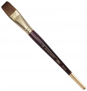 Кисть художественная Koh-i-noor колонок, плоская, №16, короткая ручка, блистер  Koh-i-noor