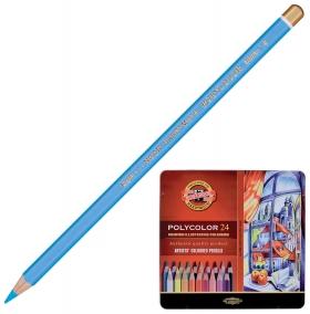 """Карандаши цветные художественные Koh-i-noor """"Polycolor"""", 24 цвета, 3,8 мм, металлическая коробка   Koh-i-noor"""