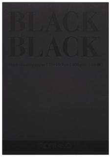 """Альбом для зарисовок А4 (210x297 мм) FABRIANO """"BlackBlack"""", черная бумага, 20 листов, 300 г/м2   Fabriano"""