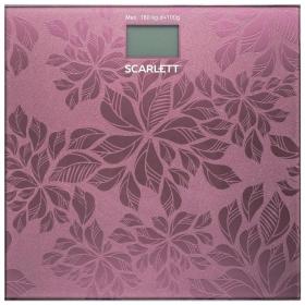 Весы напольные SCARLETT SC-217, электронные, вес до 180 кг, квадратные, стекло, розовые  Scarlett