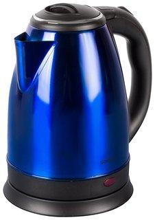 Чайник SONNEN KT-118B, 1,8 л, 1500 Вт, закрытый нагревательный элемент, нержавеющая сталь, синий   Sonnen