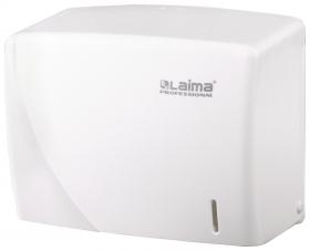 Диспенсер для полотенец LAIMA PROFESSIONAL ORIGINAL (Система H3), V (ZZ), белый, ABS-пластик   Лайма