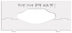 Вставки в диспенсеры для листовых полотенец Tork, для полотенец разной ширины  Tork