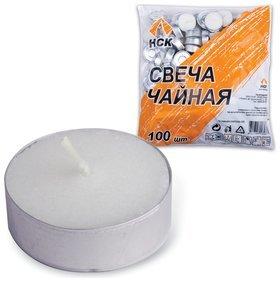 Свечи чайные в гильзе, комплект 100 шт., в пакете  No name