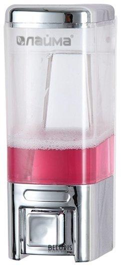Диспенсер для жидкого мыла ЛАЙМА, наливной, 0,48 л, ABS пластик, хром  Лайма