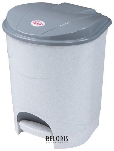 Ведро-контейнер 11 л, с крышкой и педалью, для мусора, 33х20х27 см, серое, IDEA Idea