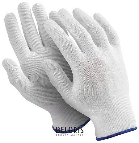 Перчатки нейлоновые Manipula Микрон, комплект 10 пар, размер 9 (L), белые  Manipula