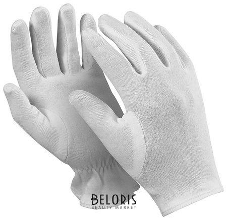 Перчатки хлопчатобумажные Manipula Атом, комплект 12 пар, размер 7 (S), белые  Manipula