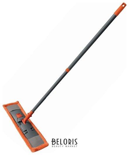 Швабра с флаундером 40 см, телескопический черенок 130 см, еврорезьба, МОП микрофибра (тип К), YORK Classic  York
