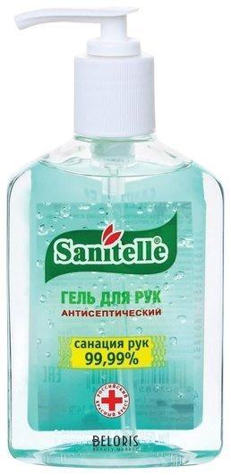 Гель для рук антисептический Алоэ, с витамином Е, дозатор Sanitelle